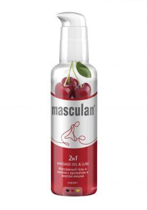 гель-смазка для массажа с ароматом вишни Masculan