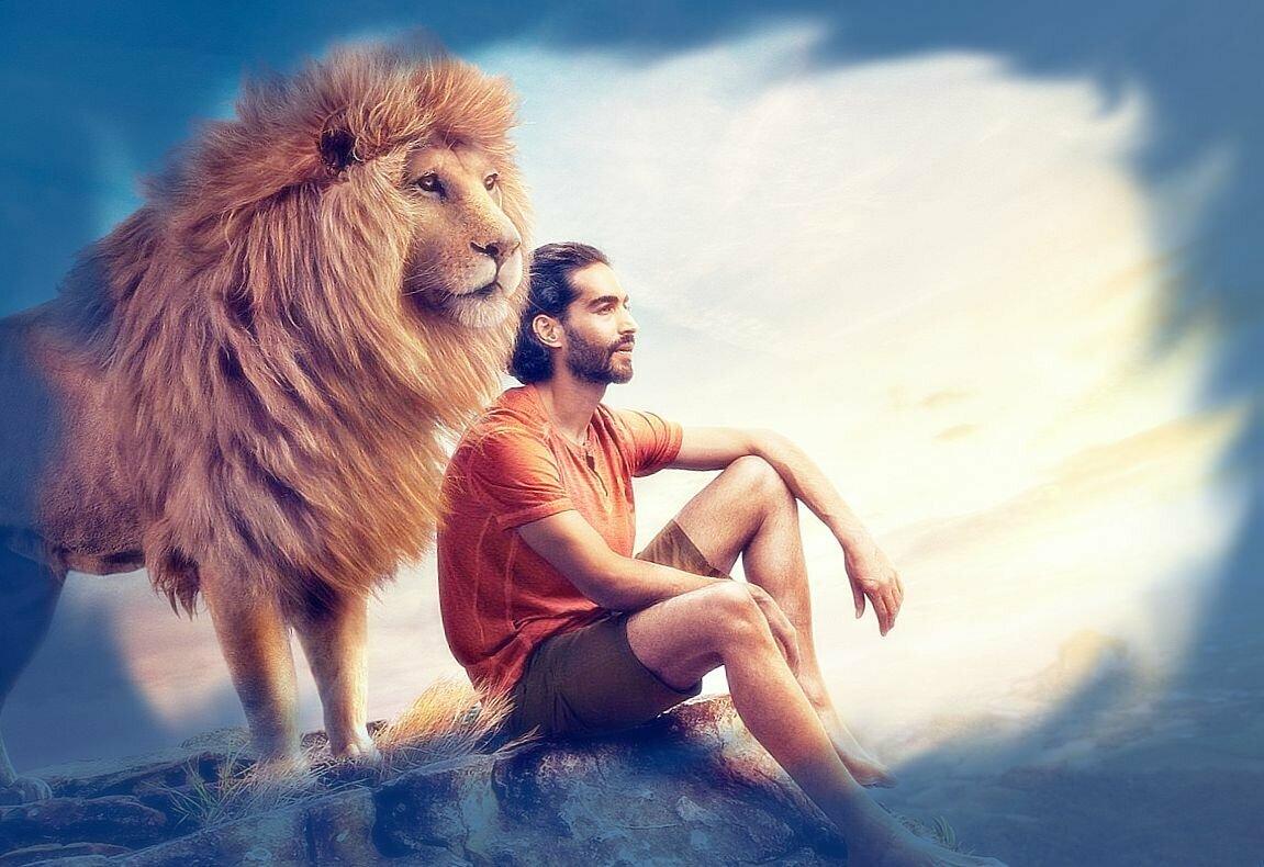 мужчина лев в постели с женщиной